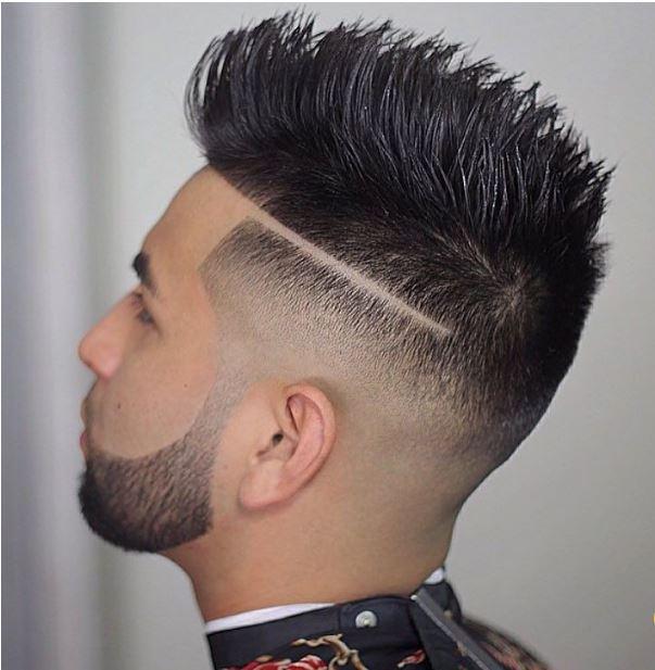 bald fade+spiky texture