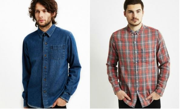 denim and checked shirts