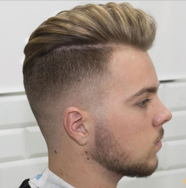 disconnected high fade + blow dry hair
