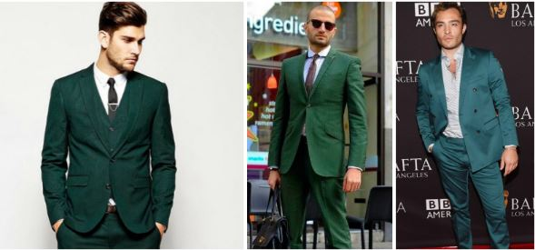 green suits