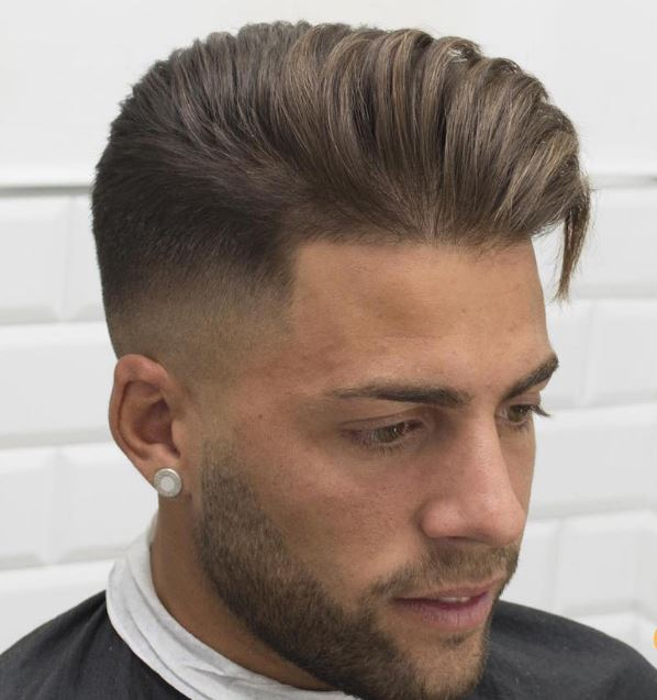 high fade + longer hair on top