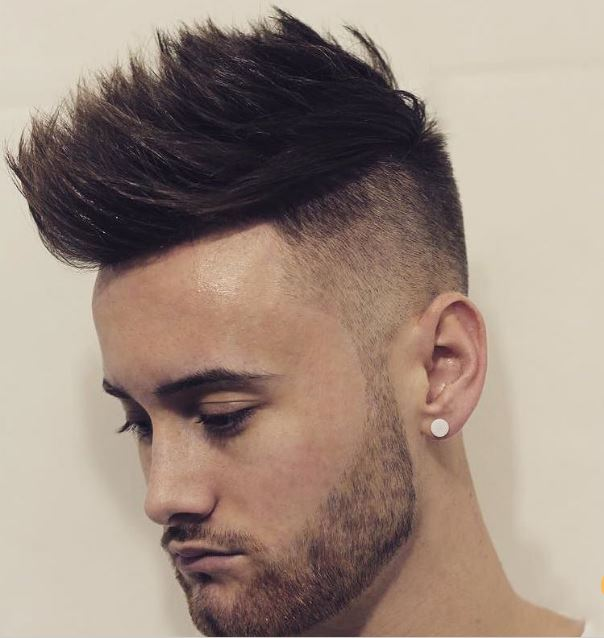 high fade texturized quiff
