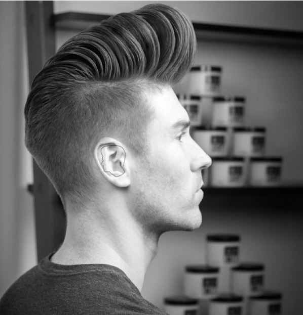 high fade+big pomp