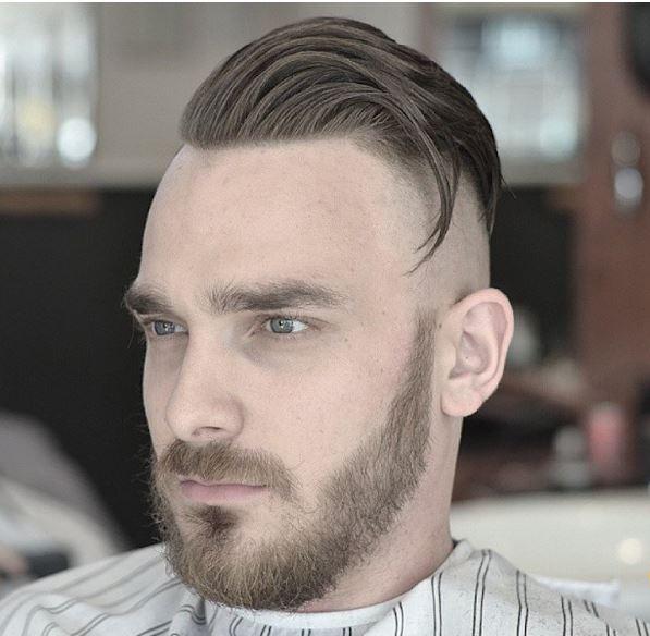 high fade+long hair+beard