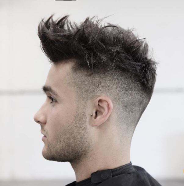 high fade+texturized hair