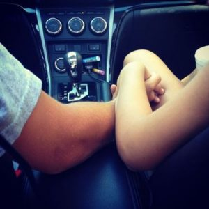 intimate moments in car