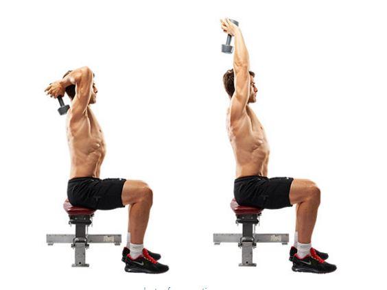 overhead triceps press