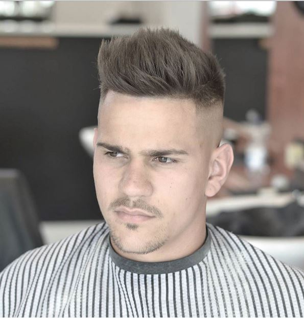 skull fade with texturized hair