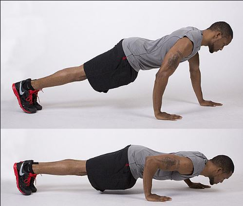 staggered push-ups