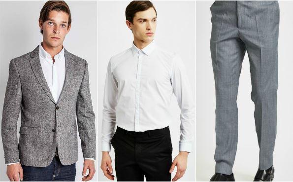 suit and mocassini