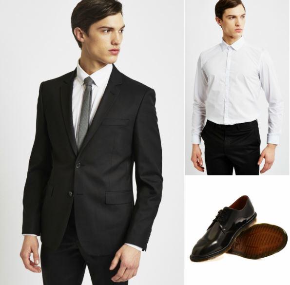 black-suit-combinations
