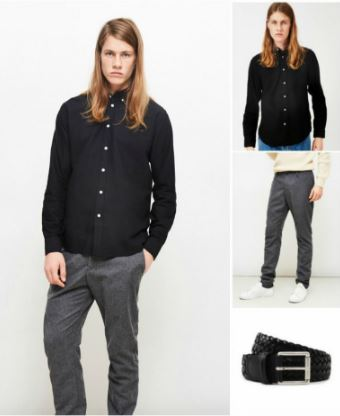 black-shirt-and-grey-trousers