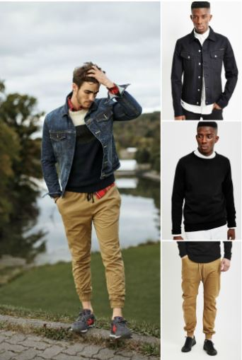 joggers-and-denim-jacket