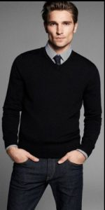 black-v-neck-and-shirt