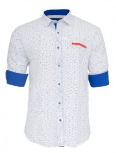blue-white-shirt