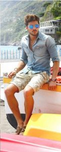denim-shirt-and-shorts