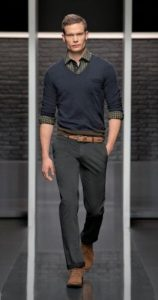 shirt-and-v-neck-sweater