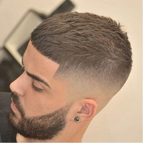caesar cut bald fade