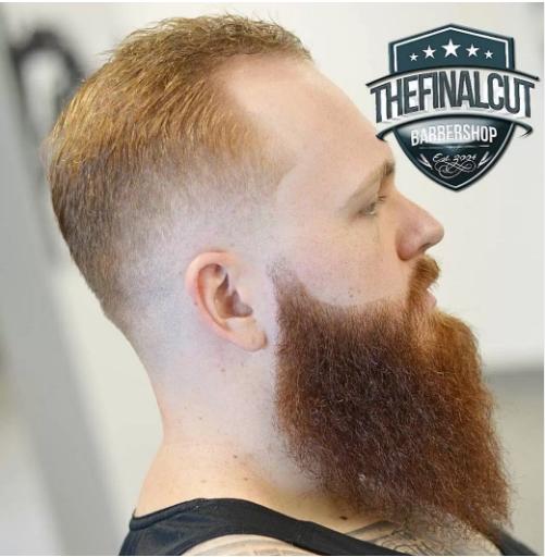 crew cut beard