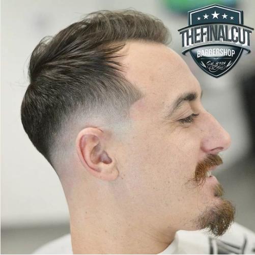 crew cut moustache