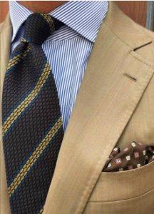 navy rige poukamiso-rige gravata