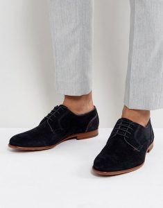 Ted Baker Iront Suede Derby Men Shoes In Navy