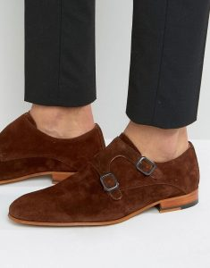 ZIGN SUEDE MONK STRAP SHOES