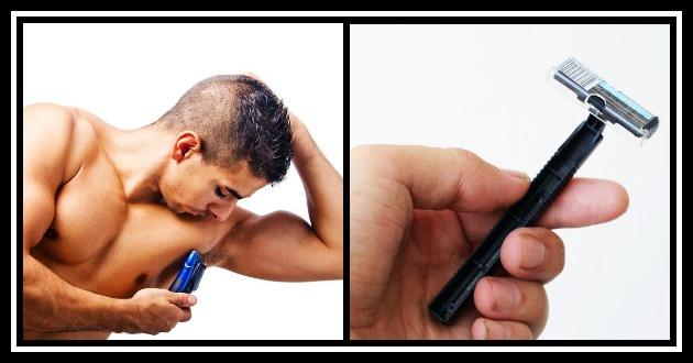 shaving armpits