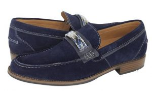 mple navy loafers