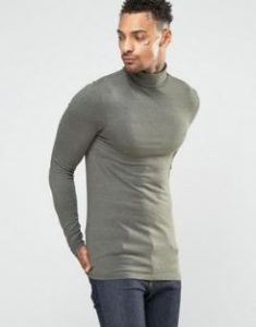 khaki-turtle-neck-jumper