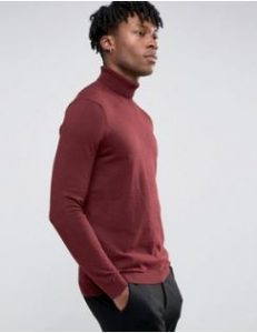 red-roll-neck-jumper
