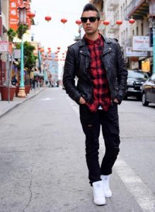 biker-jacket-long-sleeve-shirt-jeans-high-top-sneakers-sunglasses