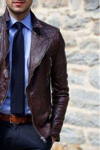 dress pants leather jacket