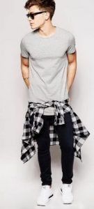 tied-flannel-shirt