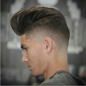 pompadour low fade