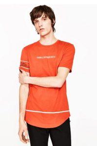 portokali t-shirt zara 2017