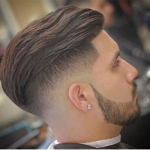 undercut fade & slick back