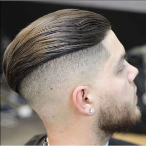 undercut slick back & beard
