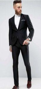 black suit skinny
