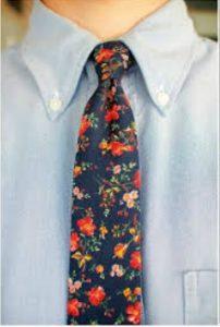 floral gravata