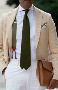 lefko poukamiso-prasini gravata