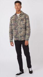 camouflage overshirt
