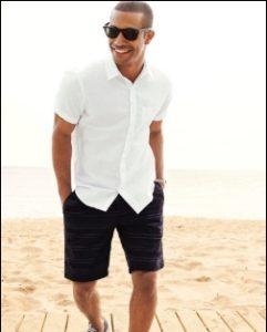 mavro shorts + lefko poukamiso