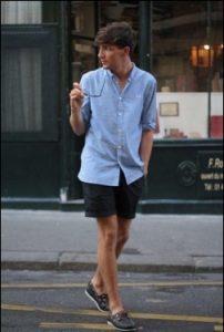 poukamiso + shorts