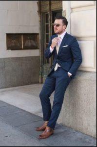 roz poukamiso navy blue kostoumi