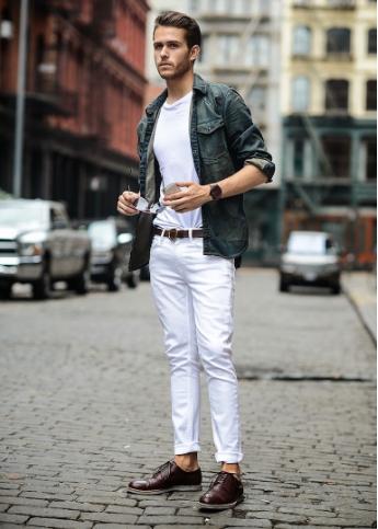 98395cc02054 Casual λευκό τζιν παντελόνι. double denim · lefko tzin lefko t-shirt ...