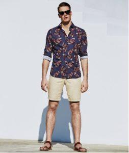 floral poukamiso-shorts