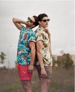 floral shirts-shorts
