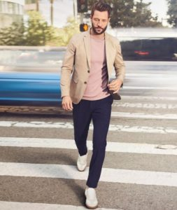 navy trousers-blazer