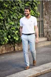 polo shirt-loafers